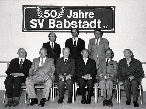 SV Babstadt e.V. - Chronik - 50 Jahre SV Babstadt